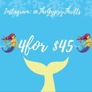 🧜♀️4 for $45 🧜♀️